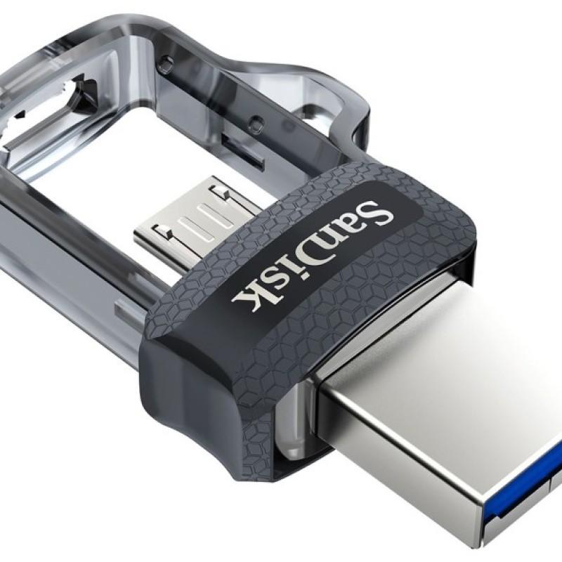 PEN DRIVE 16GB SANDISK ULTRA DUAL DRIVE P/ SMARTPHONE USB/MICRO USB - SDDD3-016G-G46