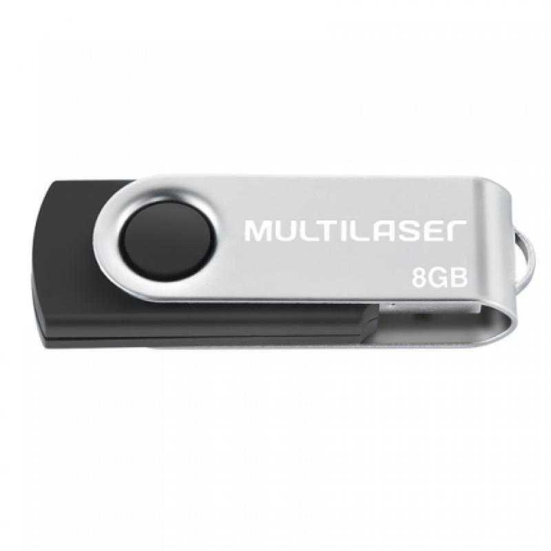 PEN DRIVE TWIST 8GB USB LEITURA 10MB/S E GRAVACAO 3MB/S SEM LOGO/ SEM (05)