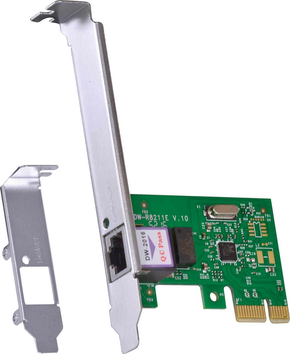 PLACA DE REDE 10/100/1000 PCI-E PRV1000E COM SUPORTE LOW PROFILE vinik