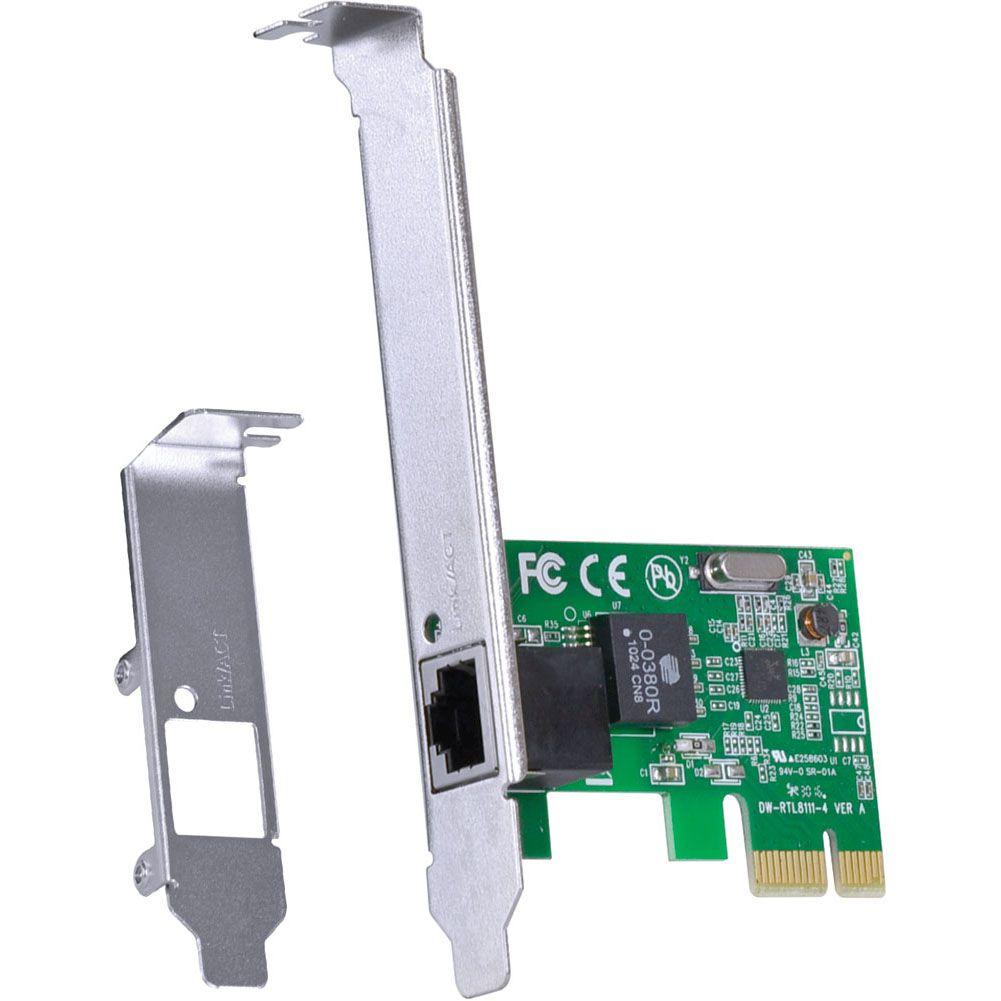 PLACA DE REDE 10/100 PCI-E PRV100E COM SUPORTE LOW PROFILE