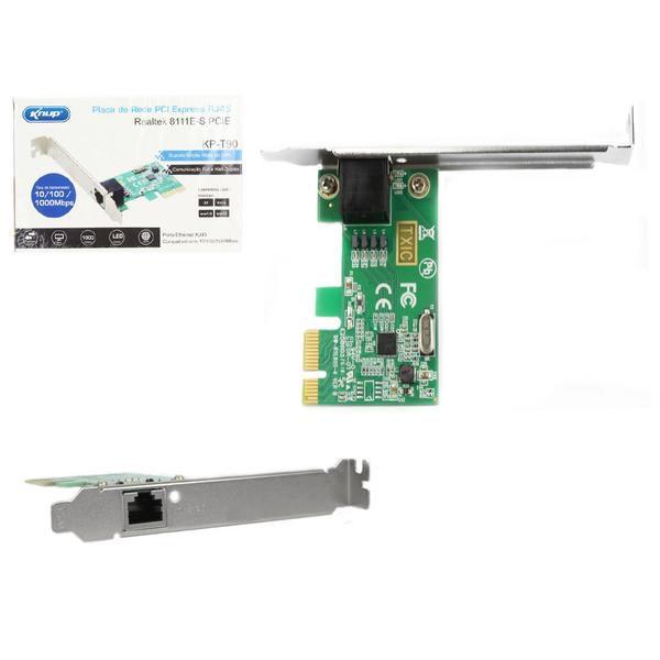 Placa De Rede Pci Express 1000mbps Ethernet Rj45 Knup Kp-t90