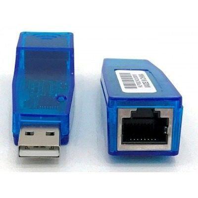 placa de Rede Usb = Conversor USB / RJ45 azul