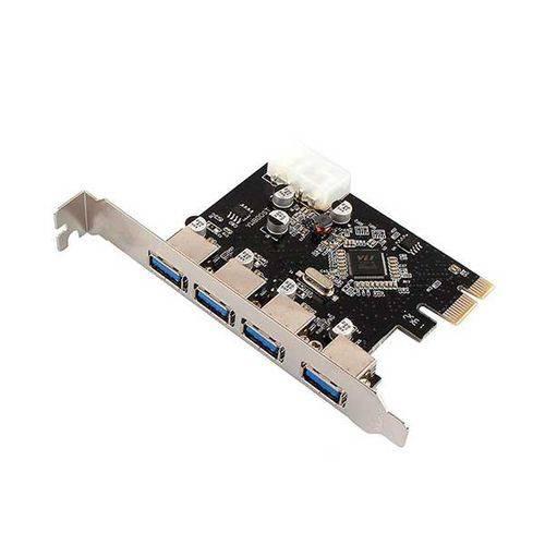 Placa Pci-e Usb 3.0 4 Portas 5gbps Dp-43 Dex