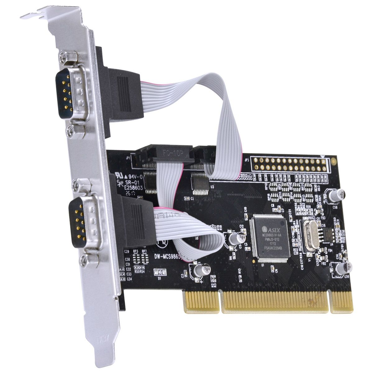 PLACA SERIAL COM 2 SAÍDAS RS232, RS485, RS422 IEEE1284 PCI X - P2IE-PCI vinik