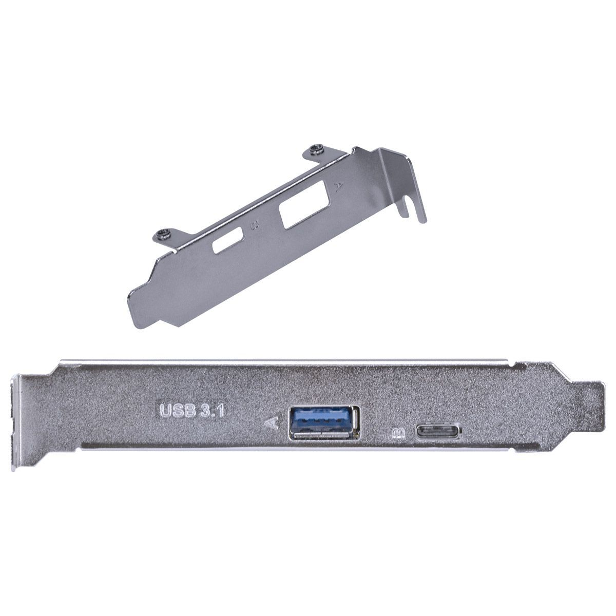 PLACA USB COM USB 3.0 + USB TIPO C 3.1 PCI EXPRESS PCI-E X4 COM LOW PROFILE - PU30C31-LP vinik