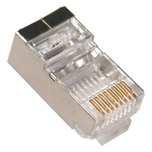 Plug Rede Conector Rj45 Multitoc Macho 8x8 Cat5e Blindado - Mump0080