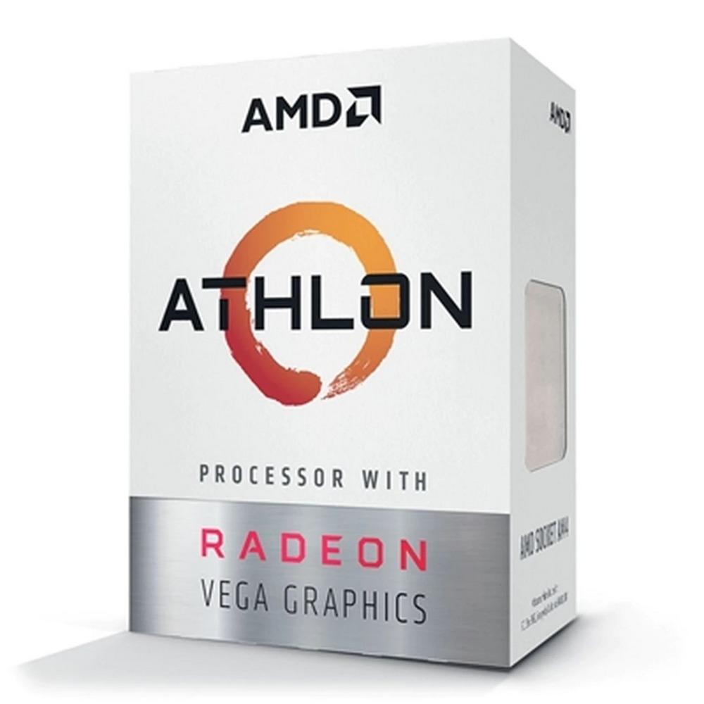 Processador AMD Athlon 3000G Box (AM4 / 2 Cores / 4 Threads / 3.5Ghz / 5MB Cache / Vega 3)