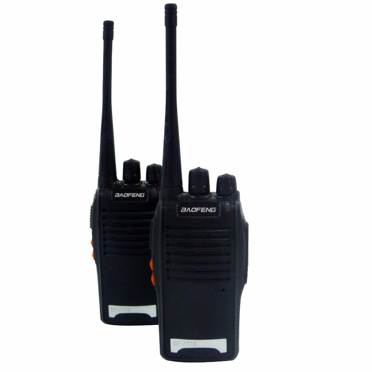 Radio Comunicador um par Uhf/Vhf Walkie-Talkie 5KM com 2 fone de ouvido Baofeng BF-777s