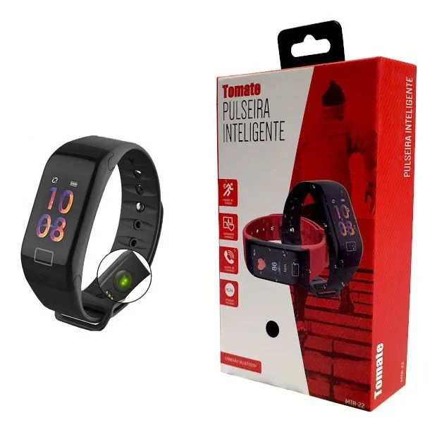 Relógio Smart Watch Bluetooth 4.0 Android iOS Tomate - MTR-22