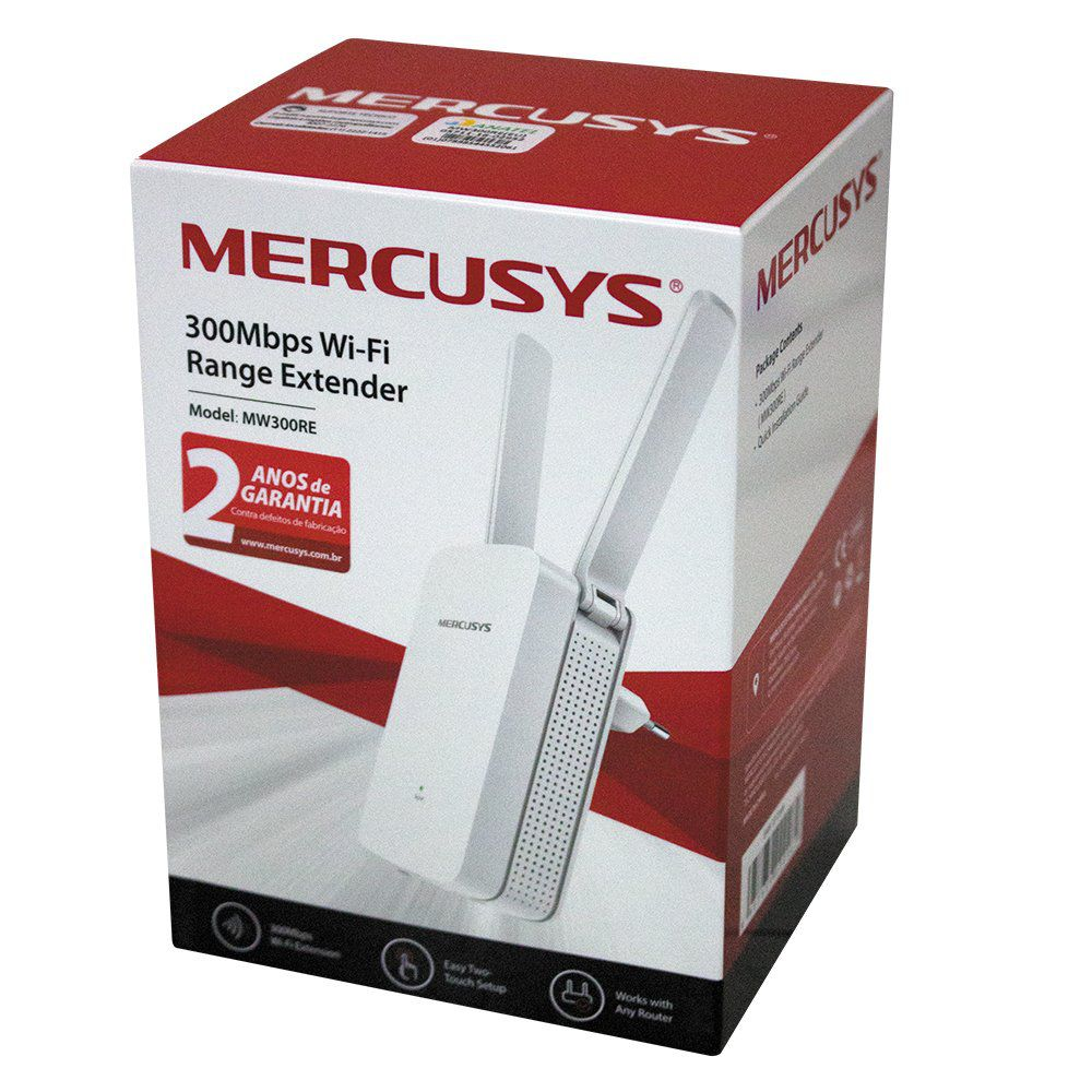 REPETIDOR EXTENSOR DE ALCANCE WIRELESS N 300Mbps MW300RE MERCUSYS