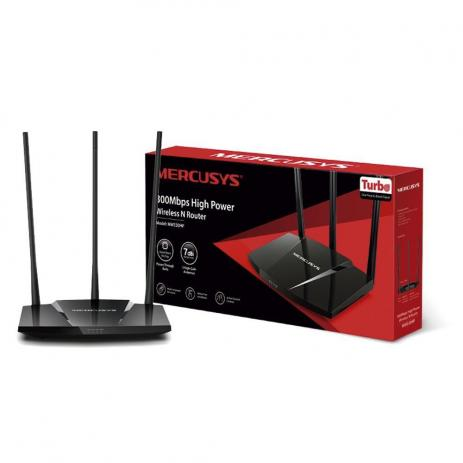 ROTEADOR HIGH POWER WIRELESS N 300 Mbps MW330HP 1000mw IPV6 MERCUSYS