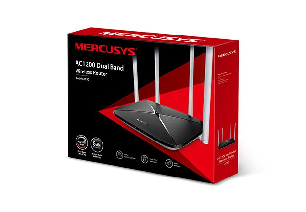 ROTEADOR WIRELESS DUAL BAND AC1200 AC12 MERCUSYS@