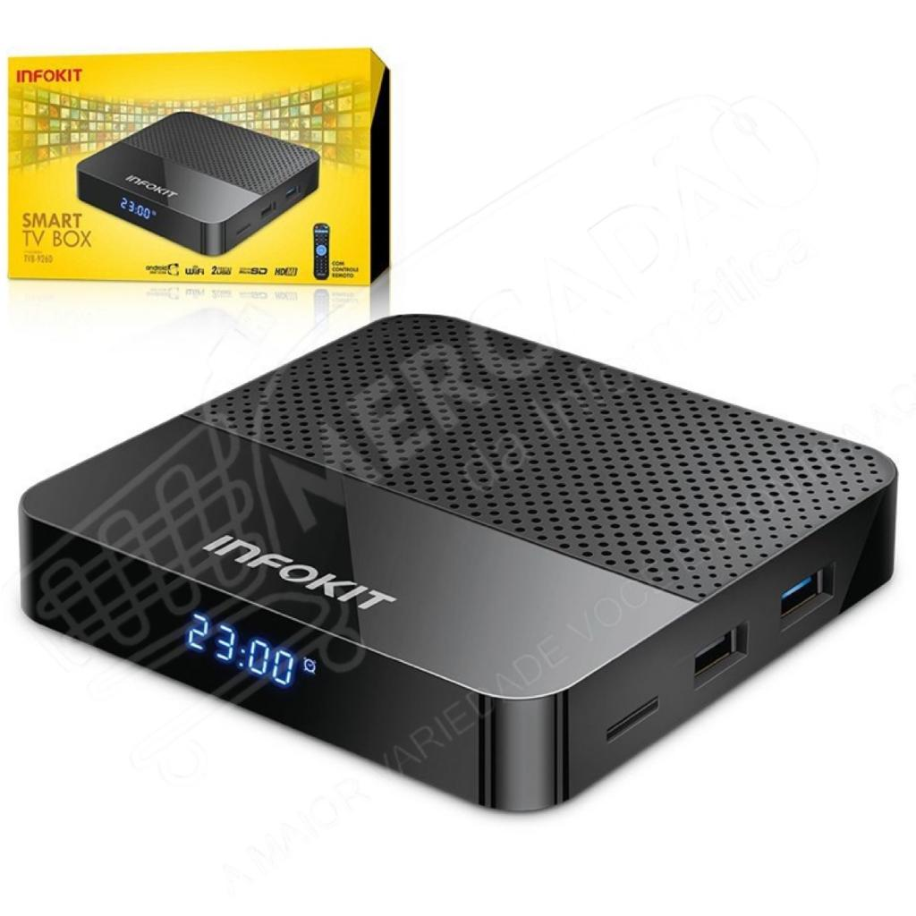 SMART TV BOX DUALBAND 2.4 GHZ E 5GHZ WIFI ANDROID 2GB+16GB INFOKIT TVB-926D