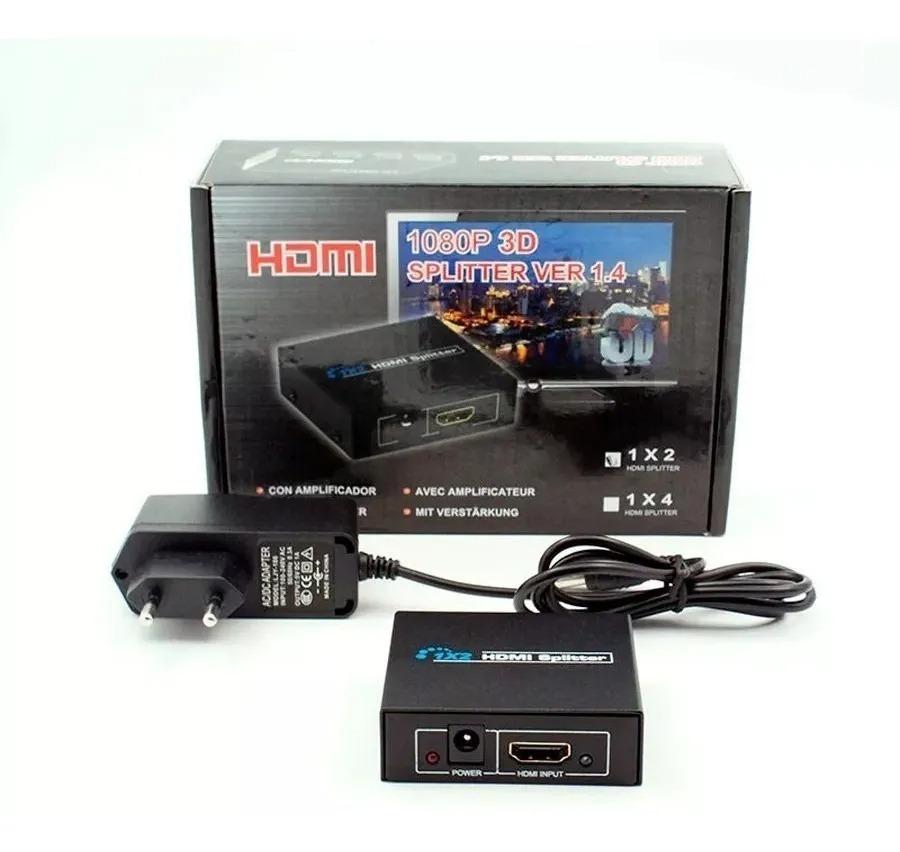 SPLITTER HDMI 1X2 1 ENTRADA PARA 2 SAÍDAS COM FONTE