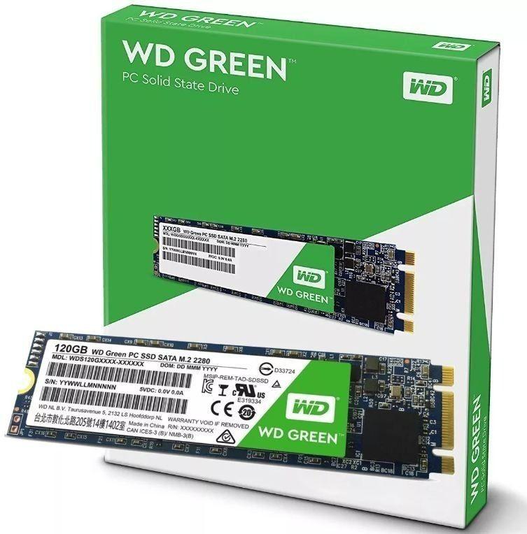 SSD 120GB M2 2280 6 Gb/s GREEN WDS120G2G0B WESTERN DIGITAL