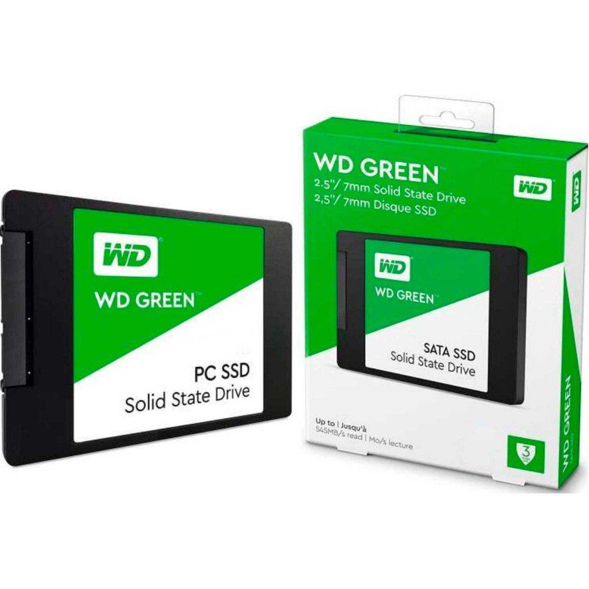 Ssd 480gb Western Digital Green Sata 3 2,5 7mm