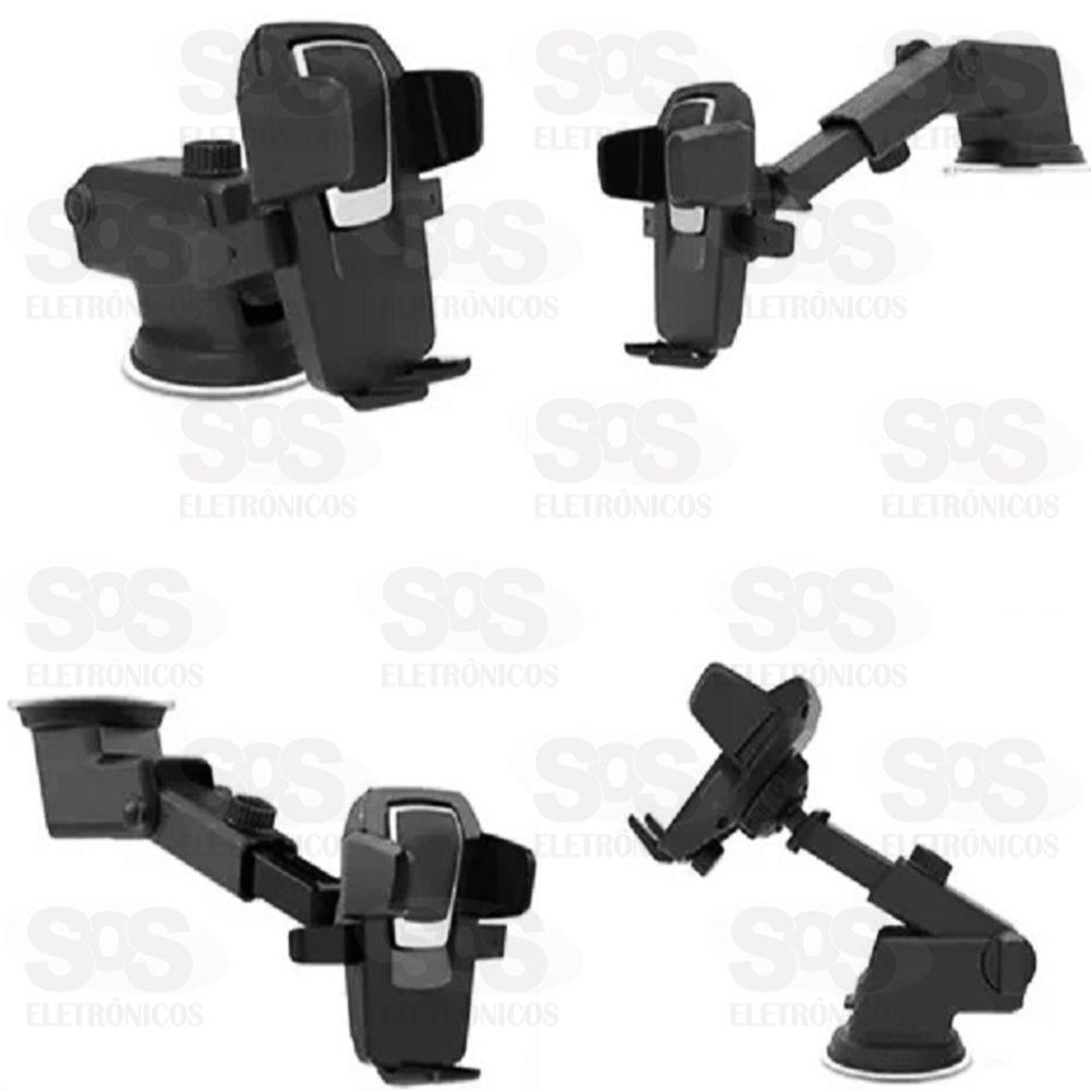 Suporte Celular Gps Veicular Com Ventosa Trava Automática KP-SP007