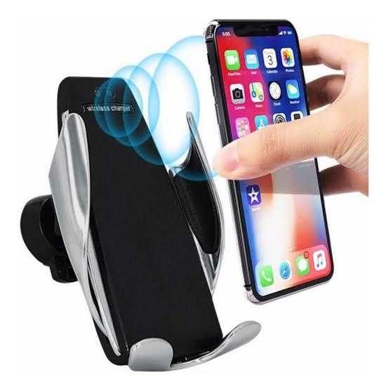 SUPORTE PARA SMARTPHONE COM CARREGAMENTO RAPIDO QI INDUCAO SEM FIO QC3.0 25W S5