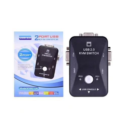 Switch De Monitor Kvm 2 Portas Sem Os Cabos Kvm21ua 2502