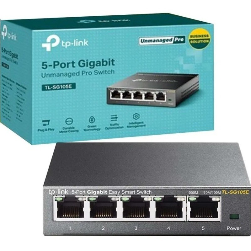 SWITCH EASY SMART 05 PORTAS GIGABIT TL-SG105E TP-LINK