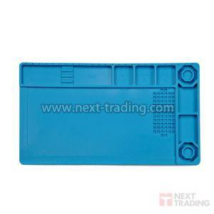 Tapete Manta de magnética em Silicone Resistente ao Calor com Porta Objetos Manutenção  Eletrônicos 380 x 210mm KLTE-503