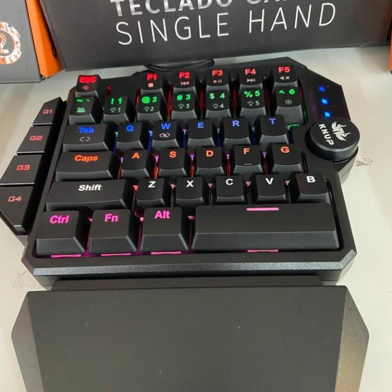 Teclado Mecânico Single Hand Usb Antigosthing Macro Rainbow Kp-tm003