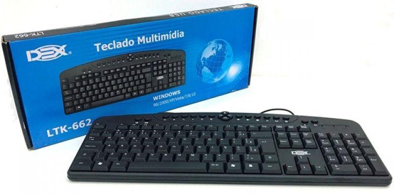 Teclado Multimidia USB Padrão Brasil ABNT2 - LTK-662