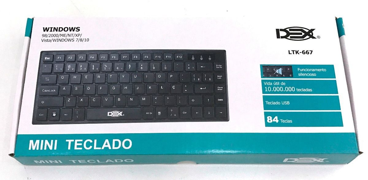 TECLADO USB MINI SLIM TIPO CHOCOLATE DEX LTK-667