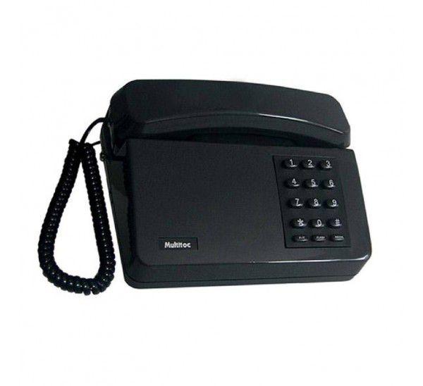 Telefone Fixo Padrão Mesa Preto Multitoc Anatel Mute0100