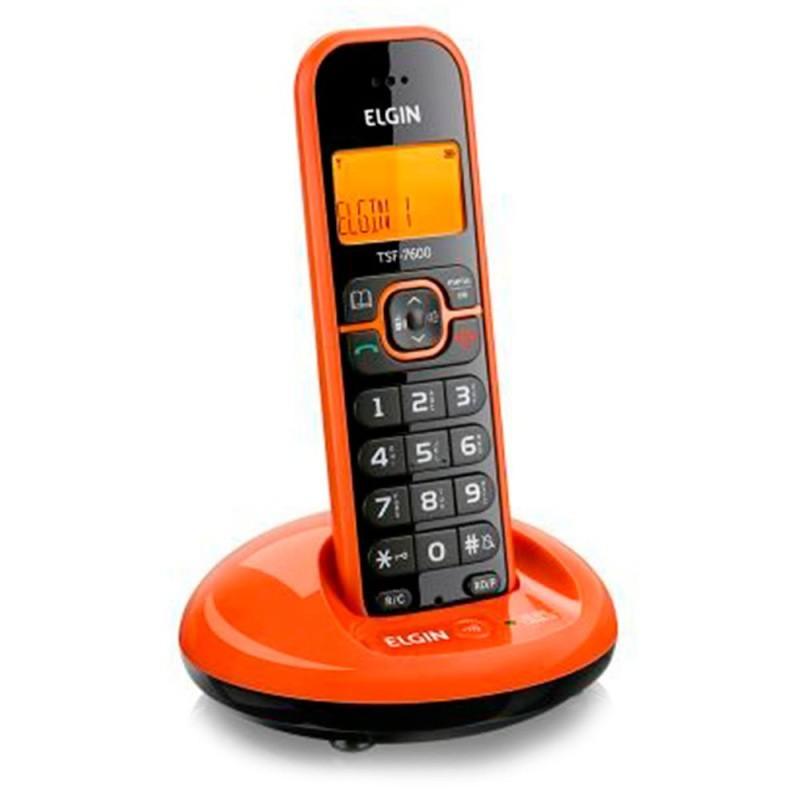 Telefone Sem Fio Elgin Identicador De Chamadas Tsf760l Laranja