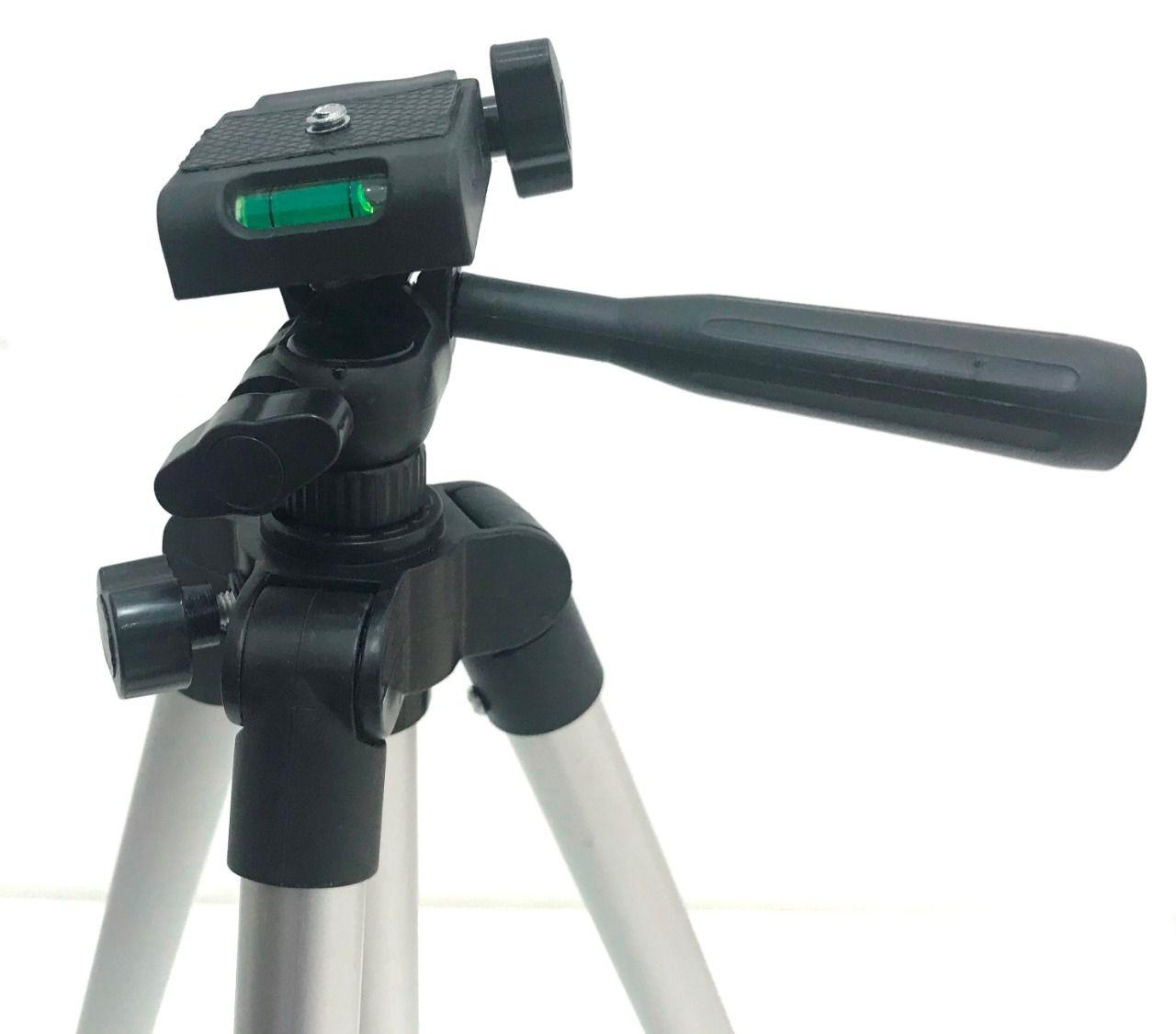 Tripé Aluminio P/ Câmeras Fotográficas 130cm Wf-3110 Prata F-3110