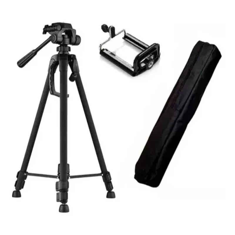 Tripé Para Celular e Câmera KP-3120 - Knup 1,02Mt Preto