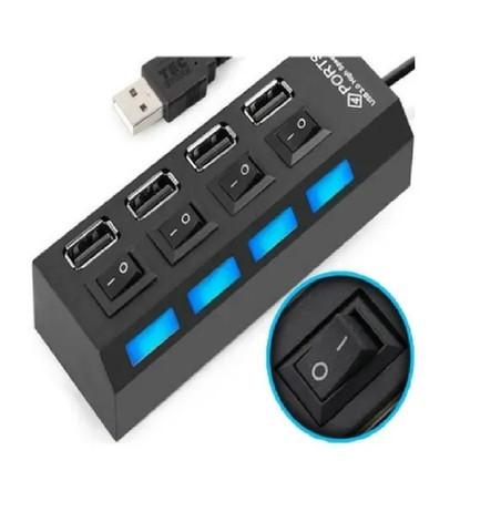 USB HUB 4 PORTAS COM INTERRUPTOR E LED KNUP HB-T63