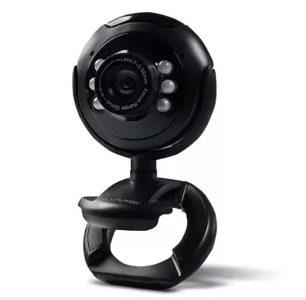 WebCam 16mp Com Microfone Nightvision Usb Multilaser Wc045