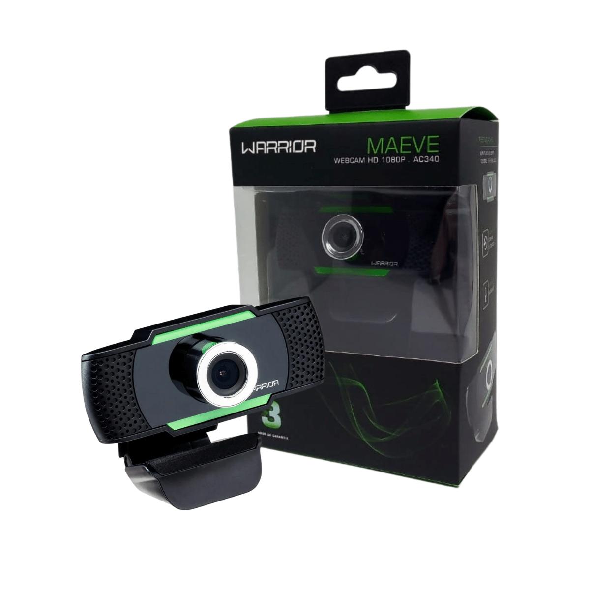 Webcam Hd Gamer Warrior Maeve Controle De Foco 30 Fps Ac340