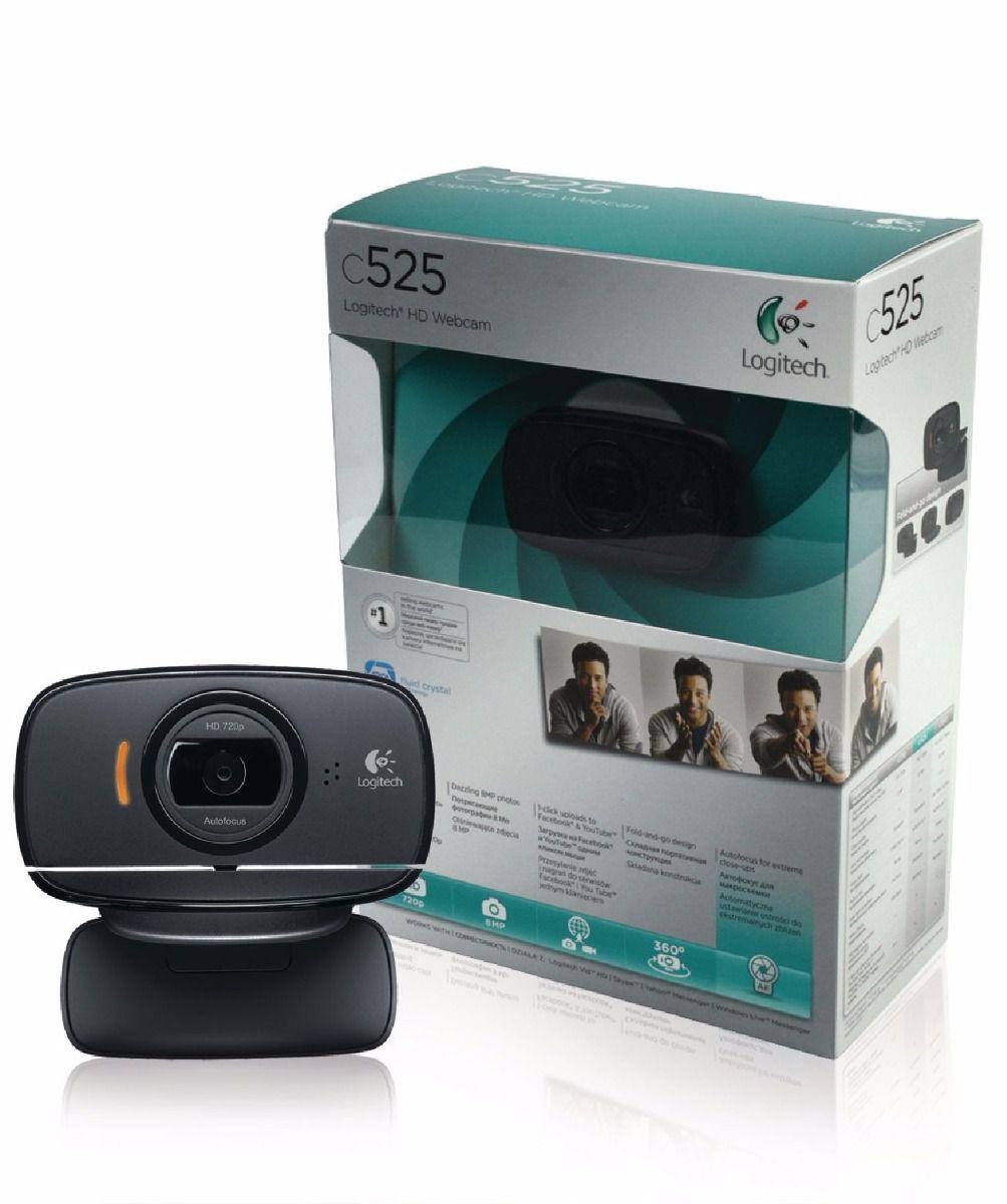 Webcam Hd Logitech C525 Rotação 360º / Foco Automático 8mp