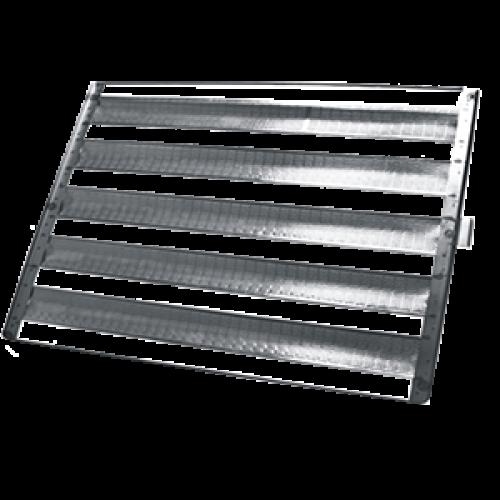 10 Assadeiras Para Pao Frances 5 Tiras 58x70 Em Aluminio  - EKENOX- Equipamentos Industriais