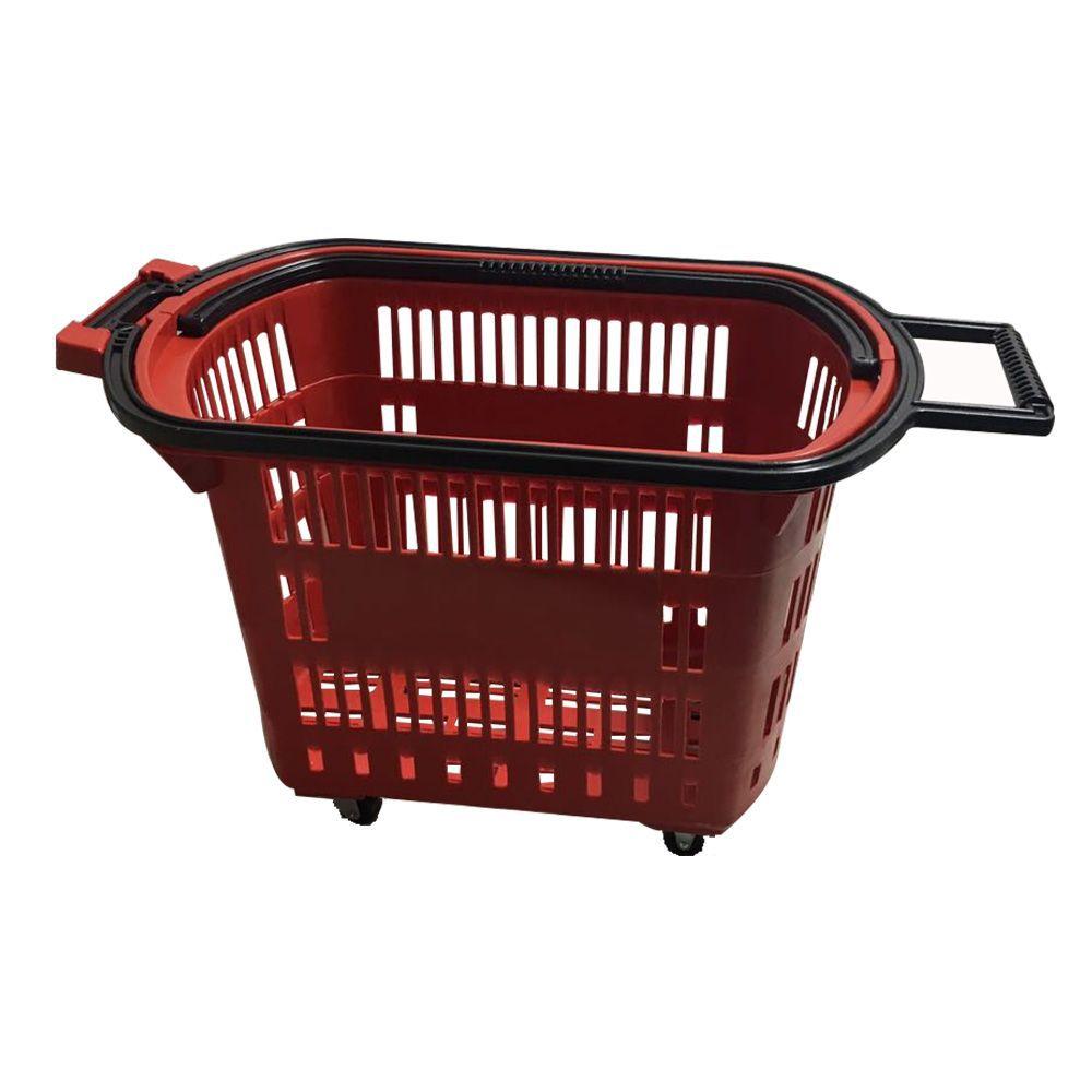 10 Cestinhas Com Rodinhas Supermercado Compra
