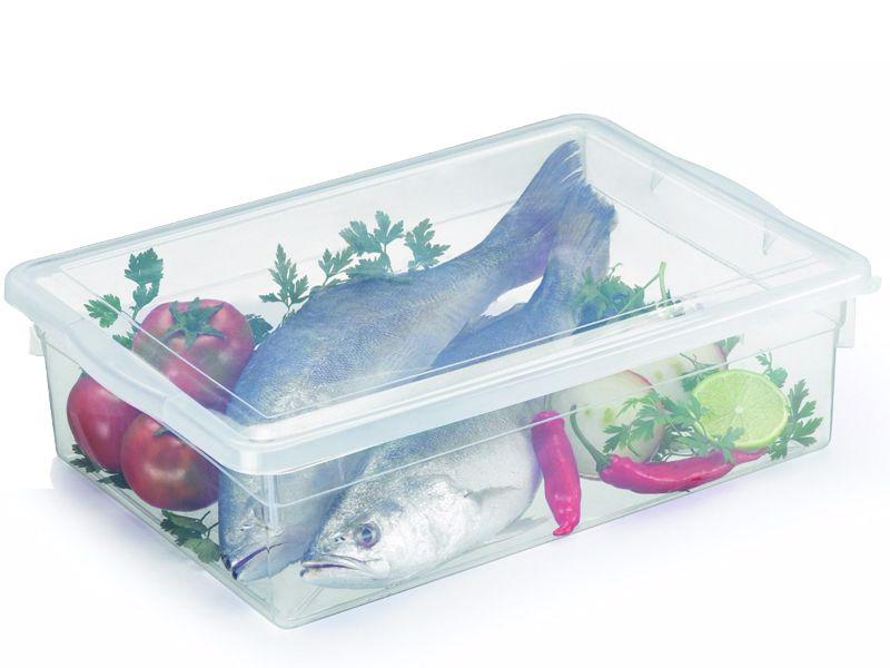 12 Caixas Plásticas C/ Tampa Organizadora Multi Uso 11 L