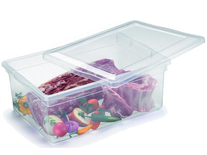 12 Caixas Plásticas C/ Tampa Organizadora Multi Uso 20 L