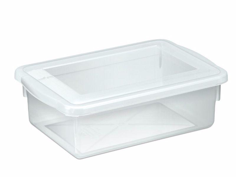 12 Caixas Plásticas C/ Tampa Organizadora Multi Uso 2,5 L