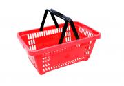 10 Cestinhas De Compras Plástico Empilhável
