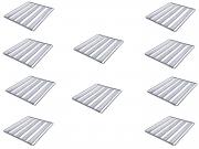 Kit 10 Assadeiras Para Pão Frances 5 Tiras 58x70 Em Aluminio Ekenox