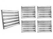 Kit 5 Assadeiras Para Pão Frances 5 Tiras 58x70 Em Aluminio Ekenox