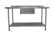 Pia de Aço Inox Com P/Lisa 1,40M Cuba 50x40x25cm