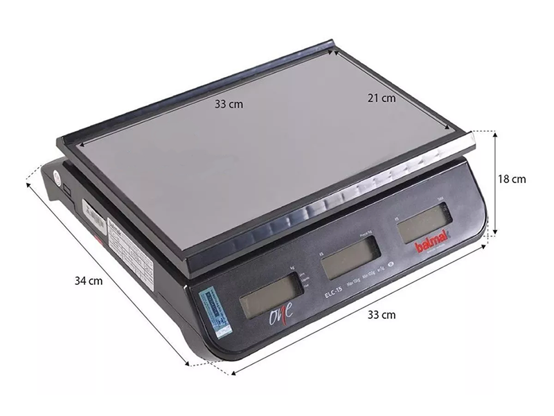 Balança Digital Balmak One ELCO-15 15Kg   - EKENOX- Equipamentos Industriais