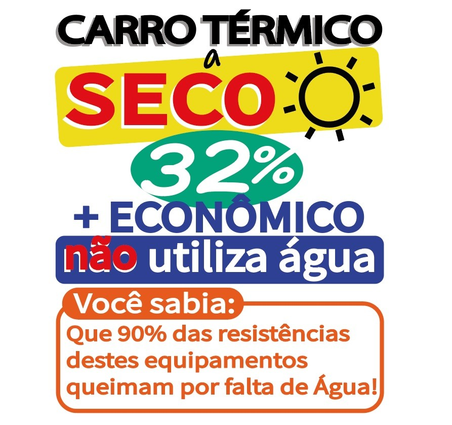 Carro Self Service Termico 8 Cubas Quente a Seco  - EKENOX- Equipamentos Industriais