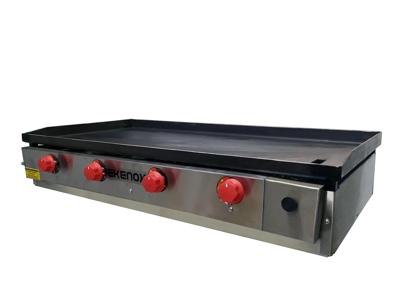 Chapa De Lanches 100x50 Cm 4 Queimadores Red Gourmet   - EKENOX- Equipamentos Industriais