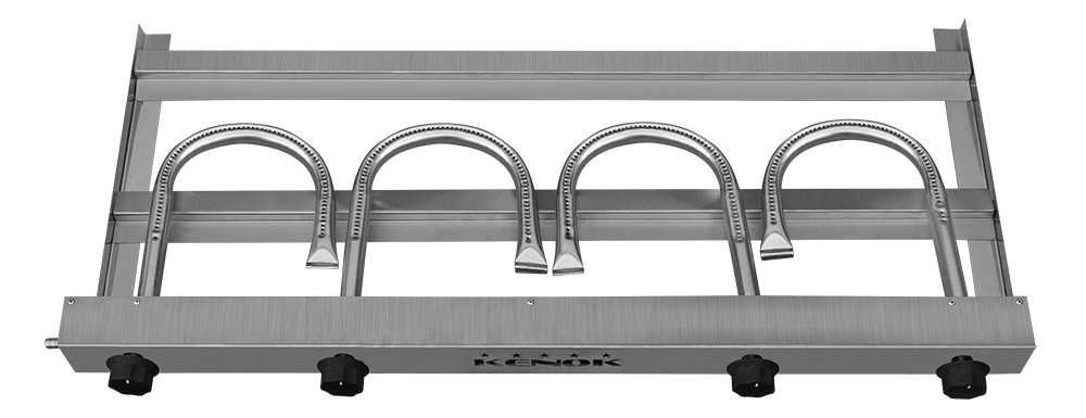 Chapa Para Lanches 100x50 Cm Kenok 4 Queimadores  - EKENOX- Equipamentos Industriais