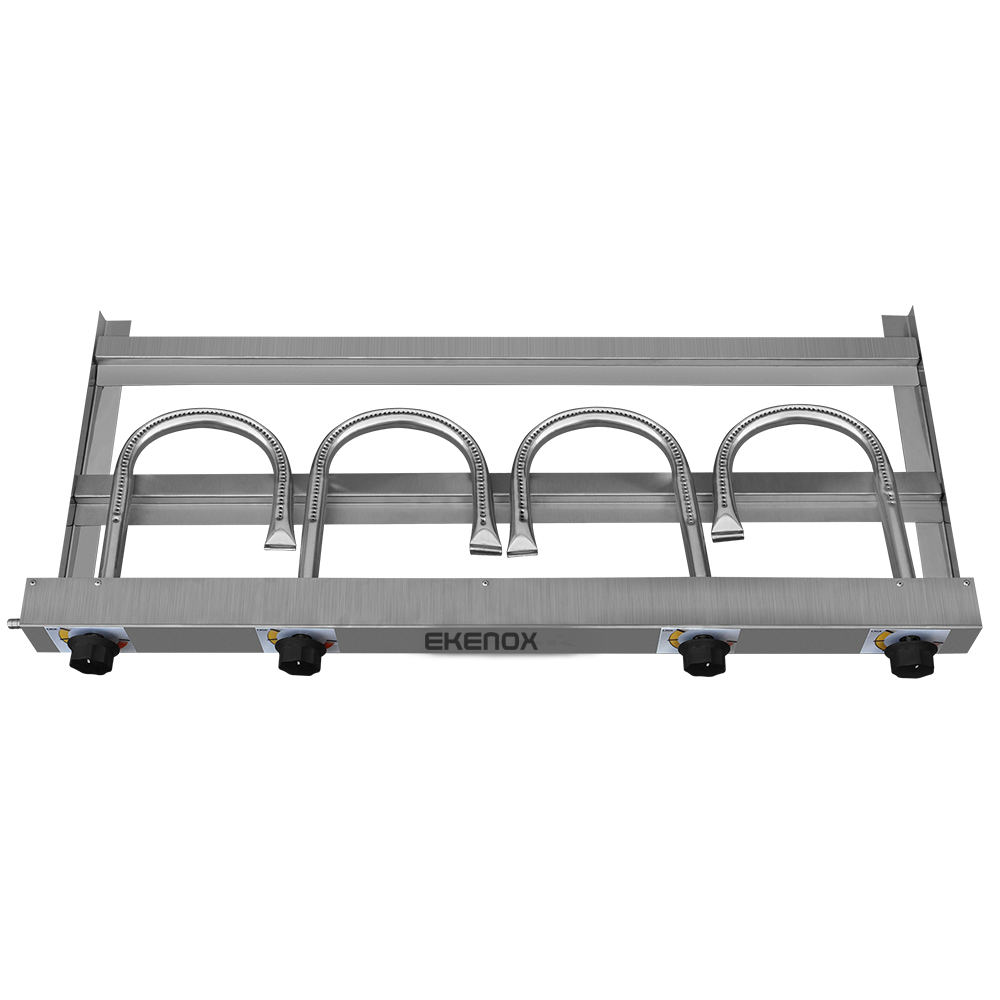 Chapa para Lanches 100x50CM 4 Queimadores Ekenox  - EKENOX- Equipamentos Industriais
